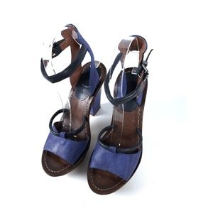 7 For All Mankind Shoes - 7 For All Mankind Sz 7 Leather Heels